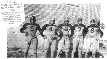 1939 Orange County Training School Senior Football Team