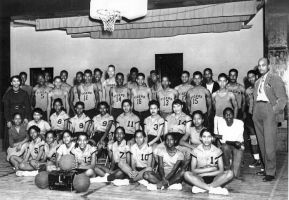 1950 Lincoln High School Basketball Teams with coaches R.O Kornegay and M. D. Fulford