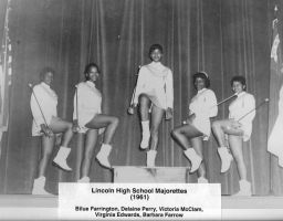 1961 Lincoln High School Majorettes
